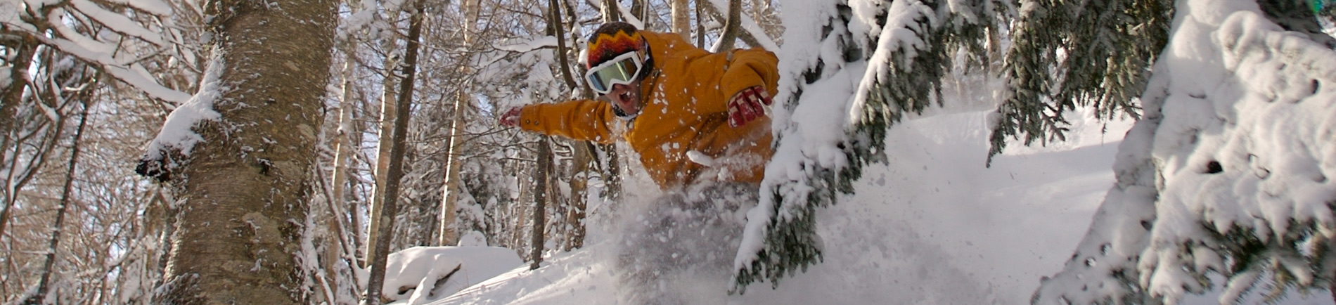 Snowboarder at Killington