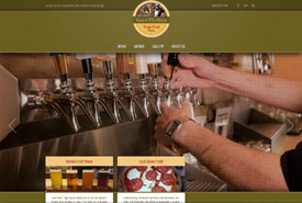 screen grab of VT Tap House home page