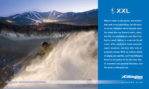 Print ad for Killington
