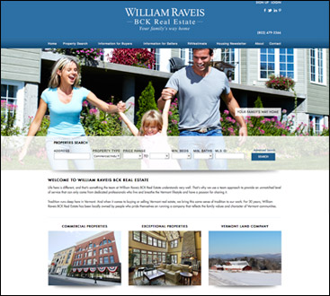 William Raveis BCK Real Estate website
