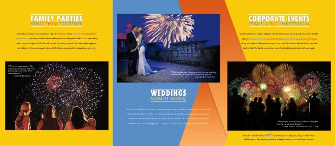 Northstar Fireworks brochure spread