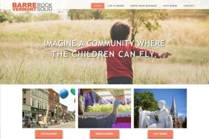 Website for the Greater Barre region of Vermont – design by The Imagination Company