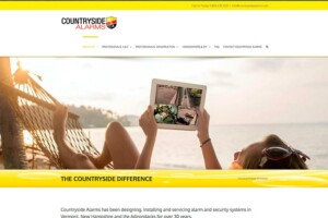 Website for Countryside Alarms of Vermont – design by The Imagination Company