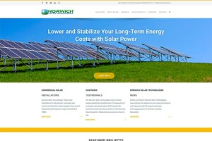 Website for Norwich Solar Technologies of Vermont – design by The Imagination Company