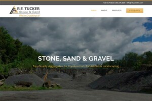 Website for RE Tucker Quarries – design by The Imagination Company